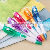multi functional promotion novelty fancy led pen advertising pen with torch