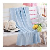 Super comfortable solid color 100 polyester cable knit fleece blanket made in china