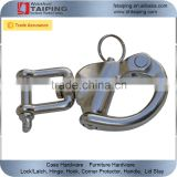"3-1/2"" Jaw Swivel Snap Tack Shackle for Sailboat - Stainless Steel"