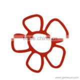Hot sale flower degin heat resistant Silicone Kitchen Trivet Pot Pan Straightener Holder Mat Heat Non-slip Resistant