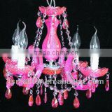 2013 hot sale European style pink color crystal chandelier light