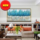 beautiful scenery modern abstract art tree picture frame oil painting