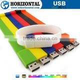 New products 2016 bracelet bulk 1gb usb flash drives with free printing