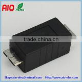 black B type micro USB 3.0 male to male double plug to plug USB adaptor connector