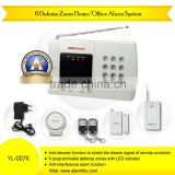 Wired/wireless PSTN residential security auto dialer alarm system connect with PIR motion detector