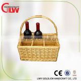 6 bottles wicker wine basket, wicker basket