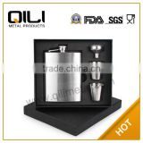 Premium 8oz Stainless Steel Hip Flask,Includes Funnel, Two Stainless Steel Cups, and Black Gift Box