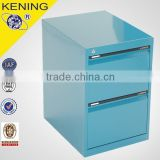 2 drawer power coating fire resistant flat file cabinet