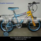 HH-K1657 16inch bmx kids bike with training wheel