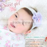 Japanese wholesale products high quality cute fashion baby hair accessories with tulle flowe for girl