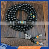 6mm Tibetan Buddhism 108 black sandalwood Prayer Bead Mala Necklace