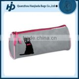 Trendy wipe-clean 600D polyester cat pencil bag