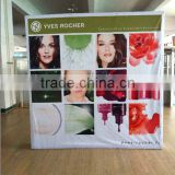 large format fabric satnd hook and loop attached fabric pop up wall trade show banner