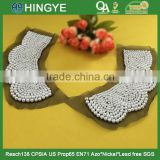 Wholesale crochet made white pearl beaded neckline collar for garments