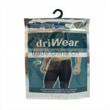 Front clear Back Foil Ziplock Bag for Men's Underwear Packaging bag with hook/custom made underwear packaging bag
