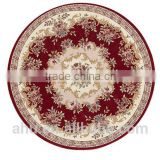 High Quality 100% Polyester Chenille Jacquard Round Carpet decorative mat under table or chair make room elegant