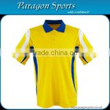 Men Polo Yellow T-shirt With Blue Collar