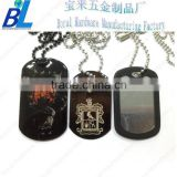 Various type Epoxy coated steel custom couple dog tag