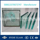 8 + 1.52 + 12 + 1.52 + 5 + 1.52 + 3mm + anti-fragment film Bullet Proof Resistant Safety Glass