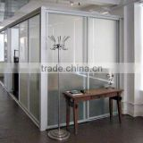 Conference room folding partition wall