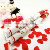wedding streamer party poppers for Party Favor,happy firework rose petal firework