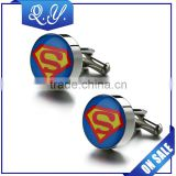 Superman Design Men's Cuff Links for Men's Shirts with High Quality Competitive Price