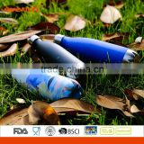 Double Wall Stainless Steel Vacuum Insulated Water Bottle with Cola Shaped Powder Coating
