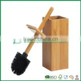 bathroom eco-friendly products, toilet brush holder from bamboo