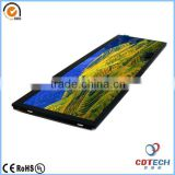 TFT Type 8.8 inches tft lcd color monitor with resolution 1280*320 and P-Cap touch screen