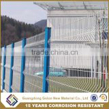 Golon high quality curve mesh fence panel from galvanized welded wire mesh factory, mesh for fencing used