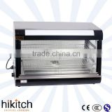 Stainless Steel Buffet Black 90CM Glass Electric Food Warmer Display Showcase In Guangzhou