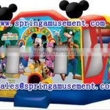 Hot sale Mickey Mousel jumpers for kids, inflatable bouncer with slide, Inflatable combo