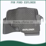 for 2015-2016 Ford Explorer Floor Liners-Full Set (Includes 1st , 2nd and 3rd Row)-Fits Vehicles with 2nd Row Center Console
