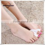 Gel Silicone Toe Protector Straightener Separator Bunion Corrector,Hallux Valgus Foot Care Supporter