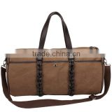 Tote style big capacity canvas travel duffel bag                                                                                                         Supplier's Choice