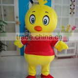 HI CE hot sale plush running mascot, chicken mascot for adult