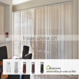 Bintronic Taiwan Curtain Motor Motorized Vertical Blinds Curtain Track DC Vertical Blinds