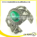 peacock green indian cuff bracelet, genuine stone bracelet                                                                         Quality Choice