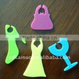 silicone decoration accesory wine glass plate clips