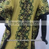 Yellow Printed Exotic Ethnic Kaftans & gowns made Cotton printed ladies wear Nighties & dresses & gowns