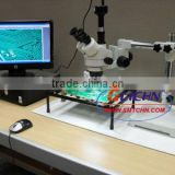 Trinocular Video Microscope sx4ts/Crystal sharp pictures. A necessary tool for SMT/SMD circuit boards inspection and other appli