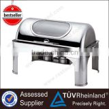 High Quality Hydraulic Glass Lid Stainless Steel Chafing Dish