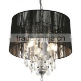 10.9-16 black or white a chrome finish and lamp shade perfect Shaded Crystal Chandelier any home