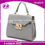 2016 wholesale OEM cheap new trendy grey synthetic leather latest designer handbags 2016 handbags