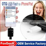 Wholesale iFlash Drive Device 8GB 16GB 32GB 64GB OTG USB Flash Drive for iPhone/iPod/iPad/ iTouch/USB OTG
