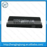 High quality HDMI Splitter 1x4 Ports 4 Port 1080P v1.3 HDTV 3D HD Audio