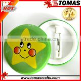 Round Plastic Printing Smiley Face Badges Smile Lapel Pins