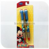 school stationery ballpen, custom cartoon plastic pen