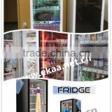 EKAA 46inch android system touch screen transparent lcd fridge