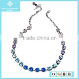 Wholesale Sapphire Crystal Beads Pendant Necklace